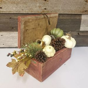 Vintage Wood Farmhouse Decor Box